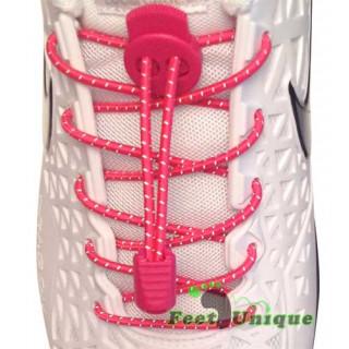 Reflektierende, pinke Schnürsenkel mit Schnellverschluss