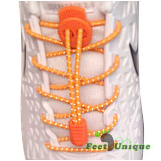 Reflektierende neon-orangene Schnürsenkel mit Schnellverschluss