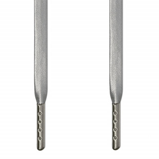 Silberne Leder-Schnürsenkel