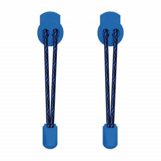 Elastische Schnürsenkel in Schwarz & Blau mit Schnellverschluss