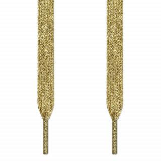 Metallisch goldene Schnürsenkel