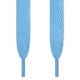 Superbreite hellblaue Schnürsenkel