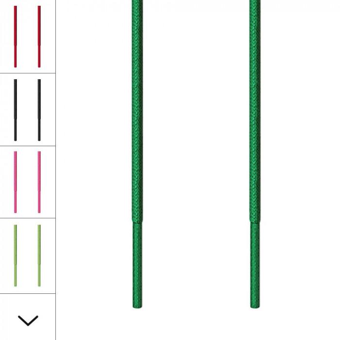 Runde, grüne Schnürsenkel für Ausgehschuhe