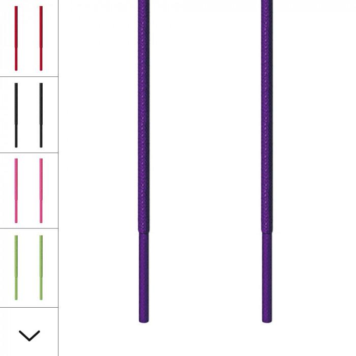 Runde, violette Schnürsenkel für Ausgehschuhe