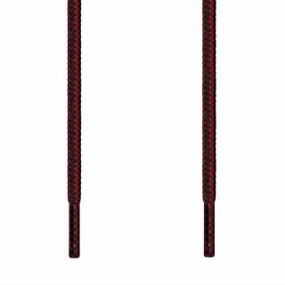 Runde Schnürsenkel in Schwarz & Rot