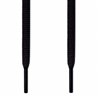 Ovale, schwarze Schnürsenkel