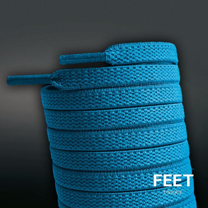 Elastische türkis-blaue Schnürsenkel (No-Tie)
