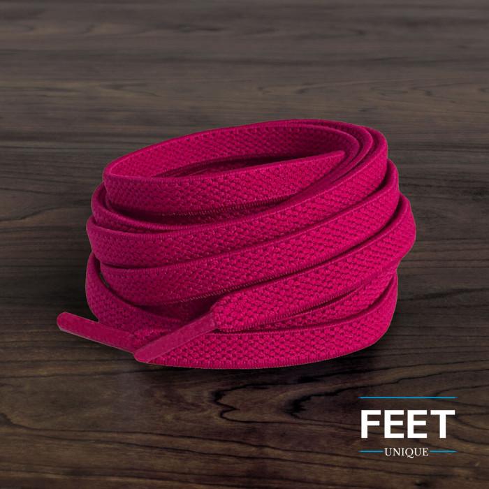 Elastische, flache, pinke Schnürsenkel (No-Tie)
