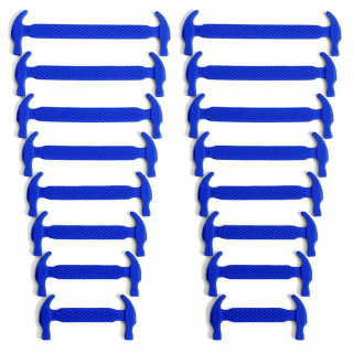 Blaue elastische Silikon-Schnürsenkel