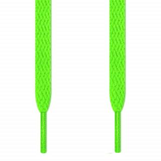Flache, neon-grüne Schnürsenkel