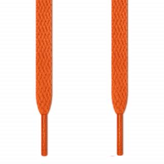 Flache, oranene Schnürsenkel