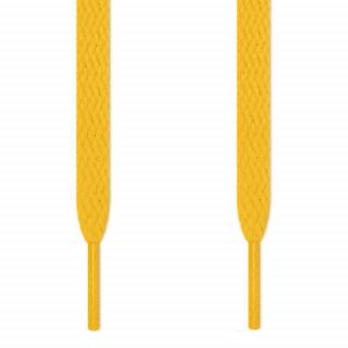 Flache, gelbe Schnürsenkel