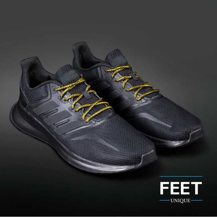 Adidas Yeezy - Schnürsenkel, schwarz und gold