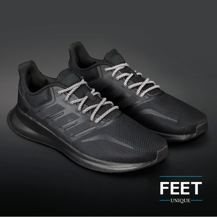 Adidas Yeezy - Schnürsenkel, schwarz-weiss